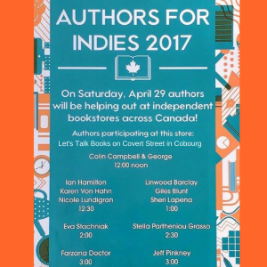 Author for Indies poster with change